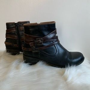 Biza Denali Leather Ankle Boots Size 40